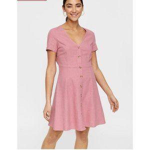 NEW Vero Moda Curve Button Down Linen Dress